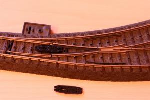 Puko Isolator für C-Gleis Bogenweiche von Märklin (24671 & 24672)